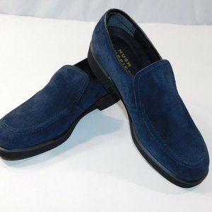 hush puppie black suede loafer size 7us